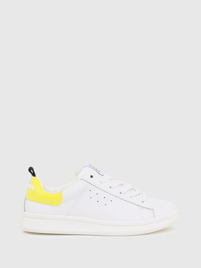 Diesel - SN LOW LACE 11 FULL, White/Yellow - Footwear - Image 1