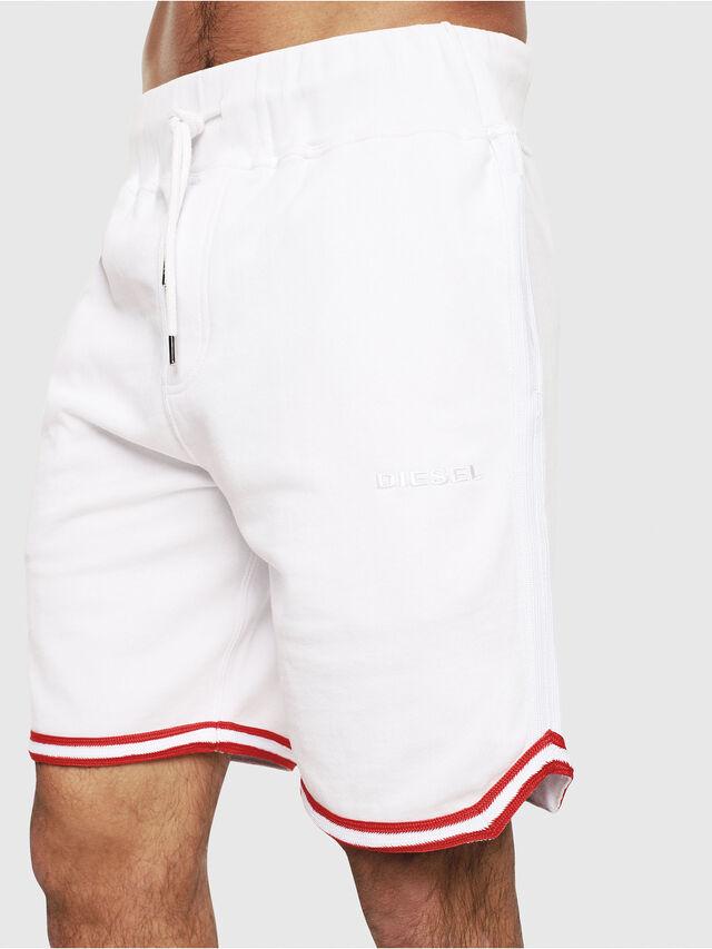 Diesel - UMLB-PAN, White/Red - Pants - Image 3