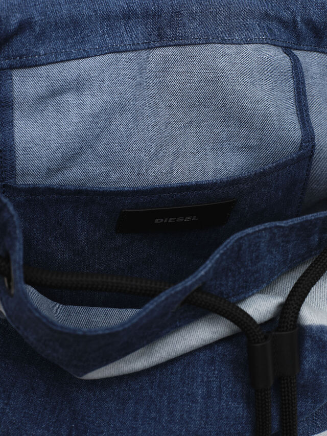 Diesel - VOLPAGO BACK, Blue Jeans - Backpacks - Image 4