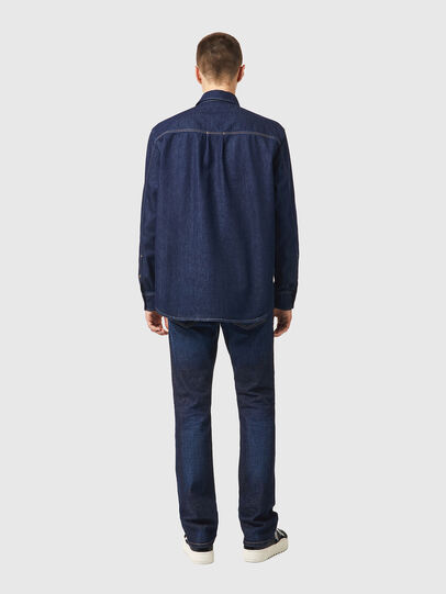 Diesel - D-WORKY-SP, Blue - Denim Shirts - Image 5