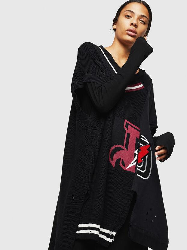 M-LEADER, Black - Knitwear