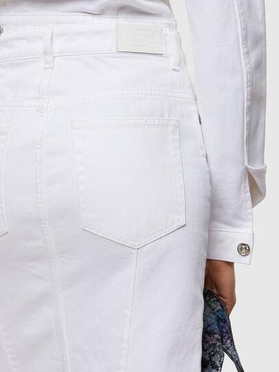 Diesel - DE-PENCIL-ZIP, White - Skirts - Image 3