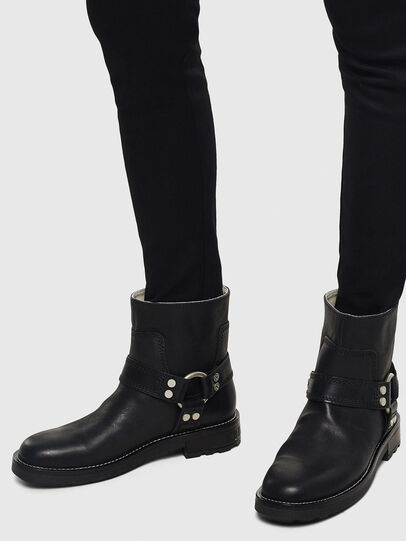 Diesel - D-THROUPER AB W, Black - Ankle Boots - Image 6