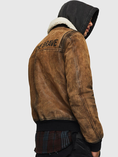 Diesel - L-OIUKIRO, Brown - Leather jackets - Image 7