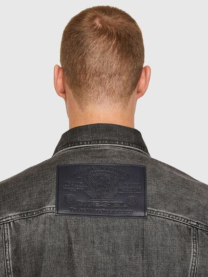 Diesel - NHILL-ROD-SP, Black - Denim Jackets - Image 4