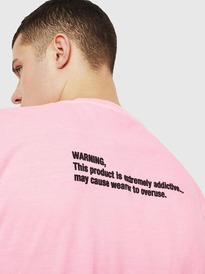 Diesel - T-JUST-NEON, Pink - T-Shirts - Image 7