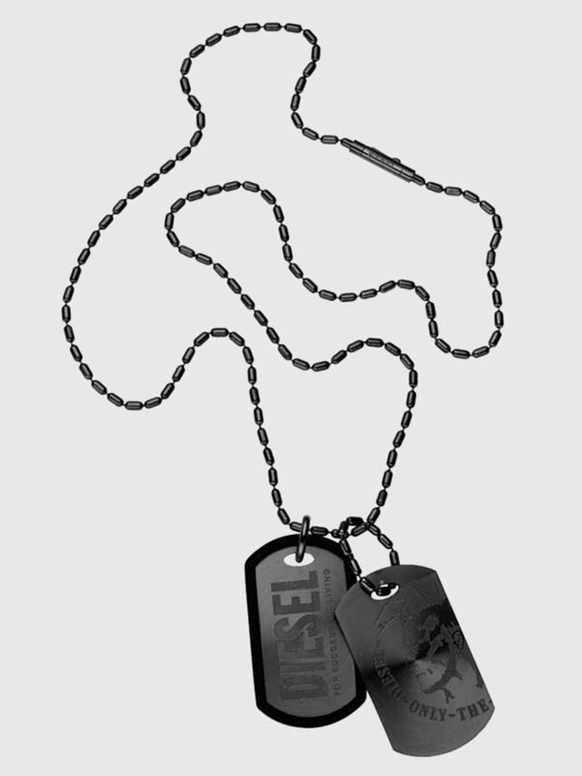 Diesel - DX0014, Black - Necklaces - Image 1