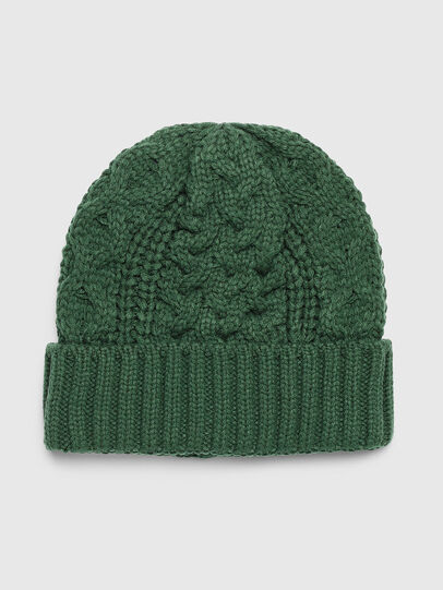 Diesel - K-KONEX, Dark Green - Knit caps - Image 1