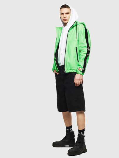 Diesel - L-CARRSY, Green Fluo - Leather jackets - Image 7
