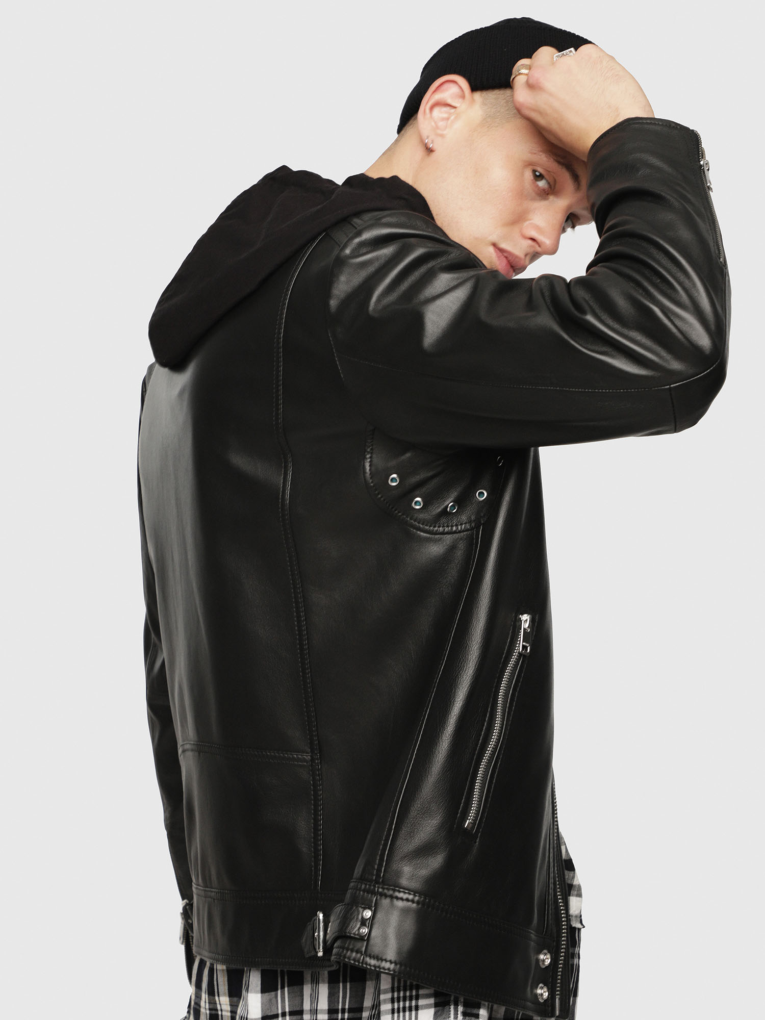 Diesel - L-SHIRO-WH,  - Leather jackets - Image 3